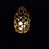 Small Organic lamp (LED Tealight) 3D Printing 193819
