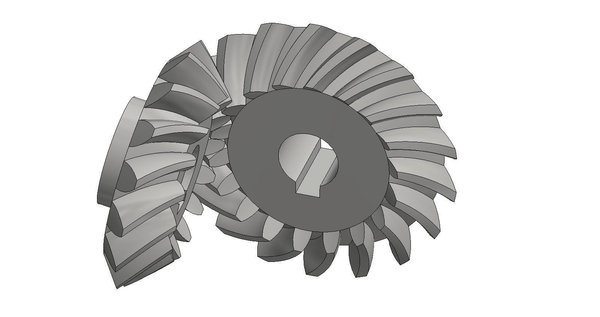 Medium Bevel Gears 5/6 3D Printing 193859