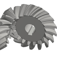 Small Bevel Gears 5/6 3D Printing 193859