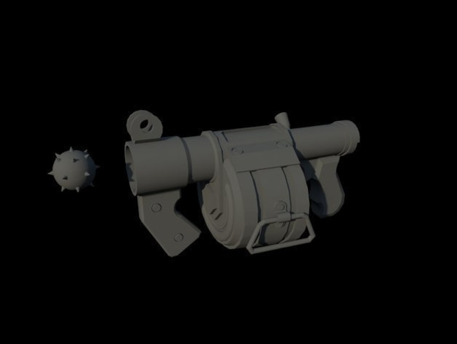 Team Fortress 2- stick bomb laucher -  Demoman 3D Print 193876
