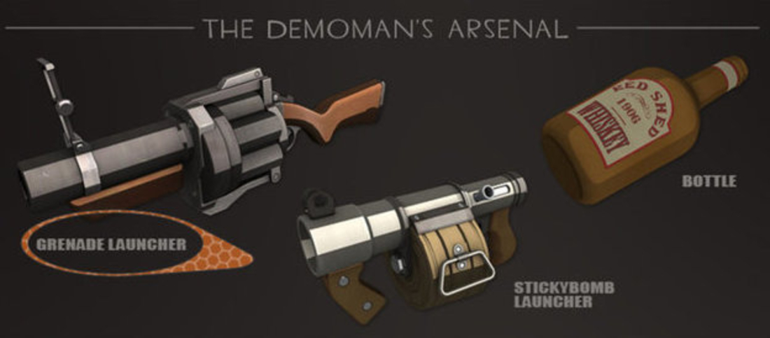 Team Fortress 2 - Grenade Launcher - Demoman 3D Print 193880
