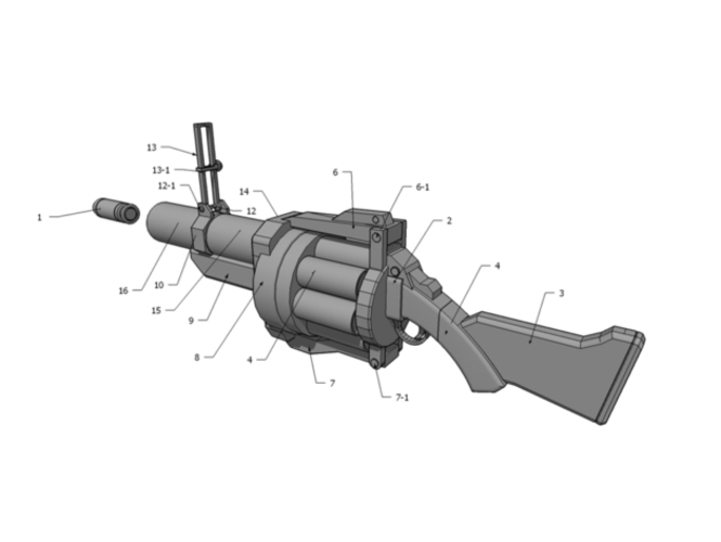 Team Fortress 2 - Grenade Launcher - Demoman 3D Print 193882
