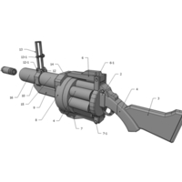 Small Team Fortress 2 - Grenade Launcher - Demoman 3D Printing 193882