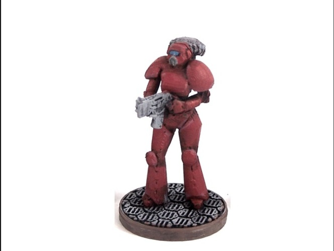 Female Space Trooper (supportless printing) 3D Print 1939