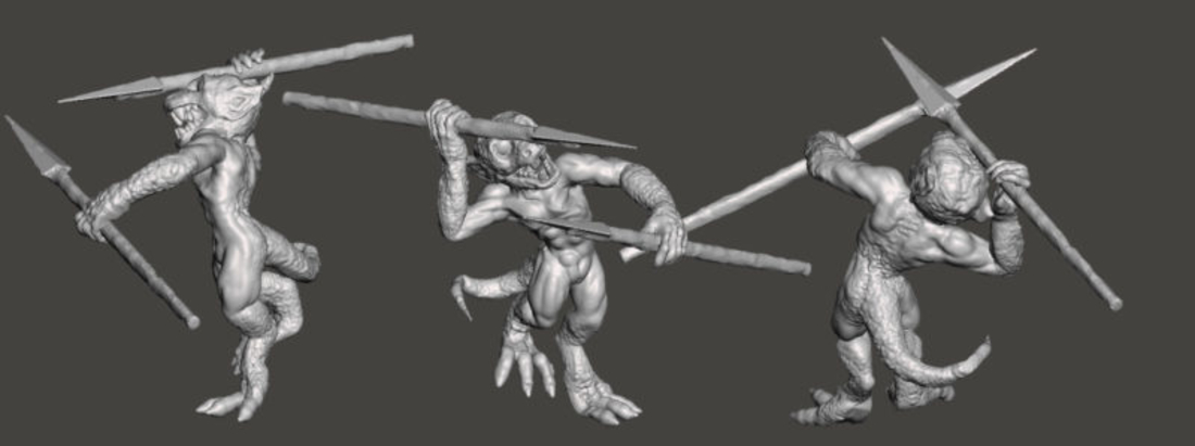 3 Orcs and 3 Kobolds *HIGH RESOLUTION* 3D Print 193908
