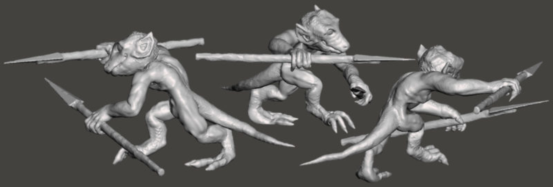 3 Orcs and 3 Kobolds *HIGH RESOLUTION* 3D Print 193909