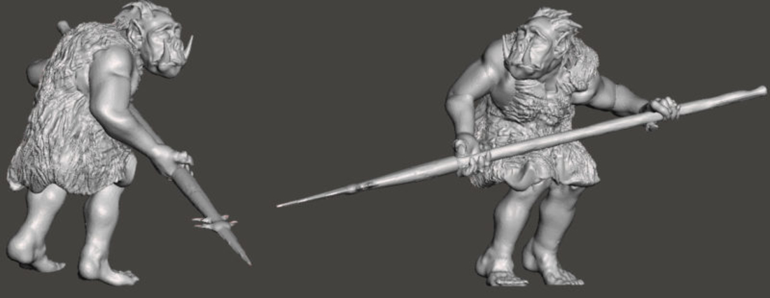 3 Orcs and 3 Kobolds *HIGH RESOLUTION* 3D Print 193911