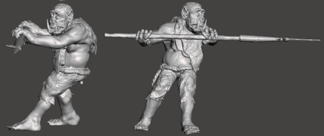 3 Orcs and 3 Kobolds *HIGH RESOLUTION* 3D Print 193912