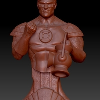 Small Green Lantern Bust 3D Printing 193915
