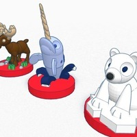 Small Canadian animals set for children  #Chess   3D Printing 19393