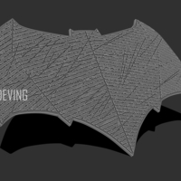 Small Batman JL emblem for cosplay 3D print model 3D Printing 194114