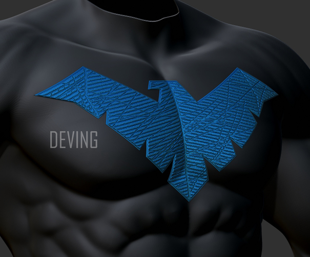 Nightwing chest emblem for cosplay  3D Print 194119