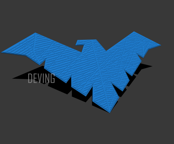 Nightwing chest emblem for cosplay  3D Print 194120