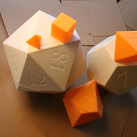 Small Dice of Destiny 3D Printing 19416