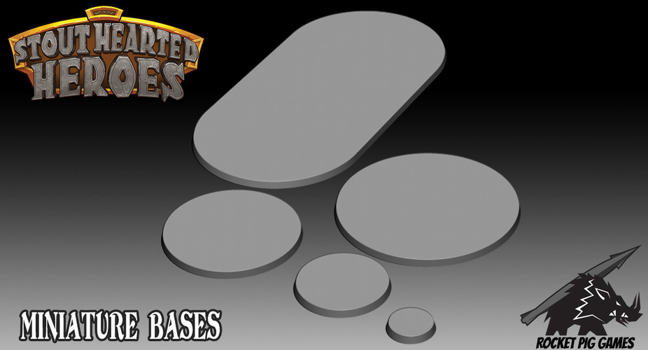 Rocket Pig Games Miniature Bases 3D Print 194173