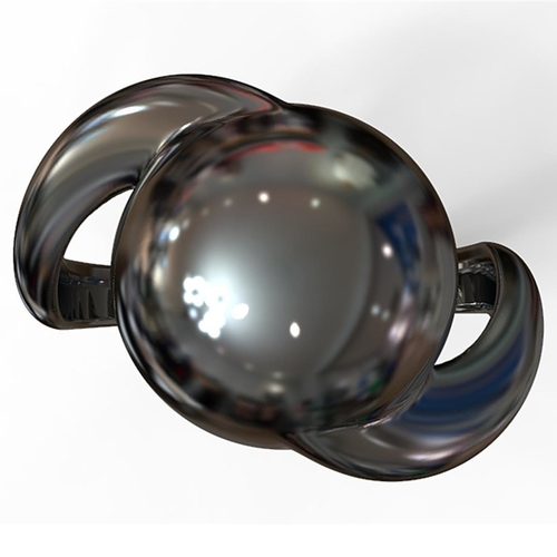 Sphere Twist Ring 3D Print 194176