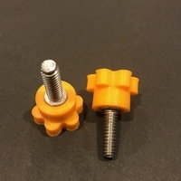 Small Knob for 1/4-20 socket head cap screw 3D Printing 194345