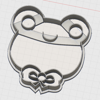 Small CUTE FROG COOKIE CUTTER 3D Printing 194354