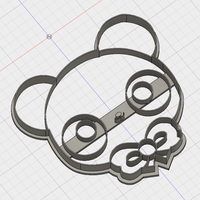 Small CUTE BEAR COOKIE CUTTER 3D Printing 194359