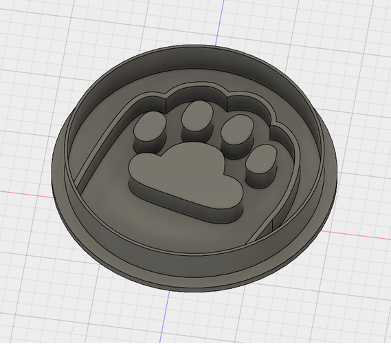 PUSHEEN PAW COOKIE CUTTER 3D Print 194361