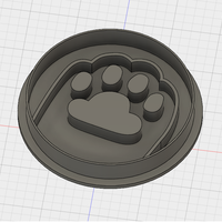 Small PUSHEEN PAW COOKIE CUTTER 3D Printing 194361
