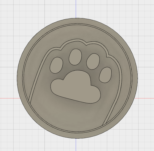 PUSHEEN PAW COOKIE CUTTER 3D Print 194362