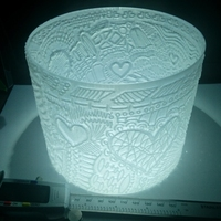 Small Lithophane Lampshade#3 Valentine 3D Printing 19439