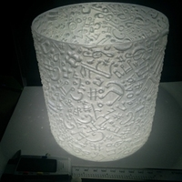 Small Lithophane Lampshade#2 Music 3D Printing 19442