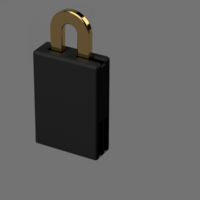 Small The puzzle lock 3D Printing 194429