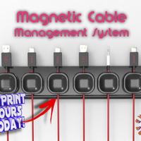 Small Magnetic Cable Management System 3D Printing 194579