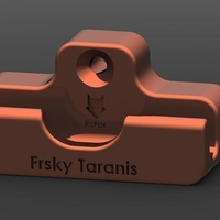 Small Frsky Taranis Wall Mount - Robust Version 3D Printing 194633
