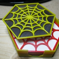 Small Spider's Web Coasters 3D Printing 19464