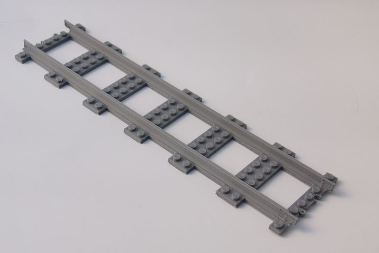 LEGO City railway straight XXLong 3D Print 194790