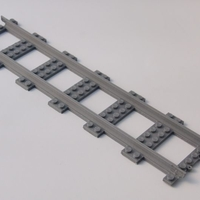 Small LEGO City railway straight XXLong 3D Printing 194790