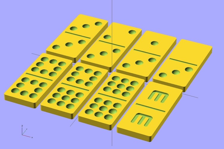Customizable Dominoes 3D Print 19497