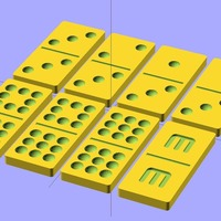 Small Customizable Dominoes 3D Printing 19497
