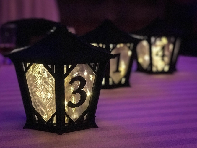 Japanese Centerpiece Lanterns for Wedding 3D Print 194986