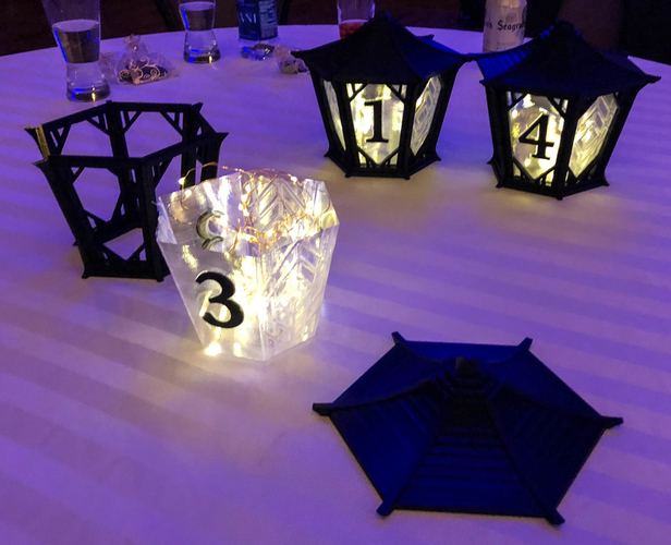 Japanese Centerpiece Lanterns for Wedding 3D Print 194987