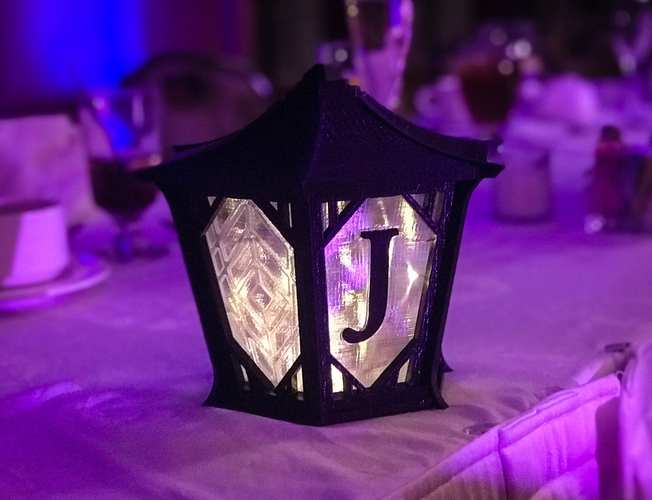 Japanese Centerpiece Lanterns for Wedding 3D Print 194988