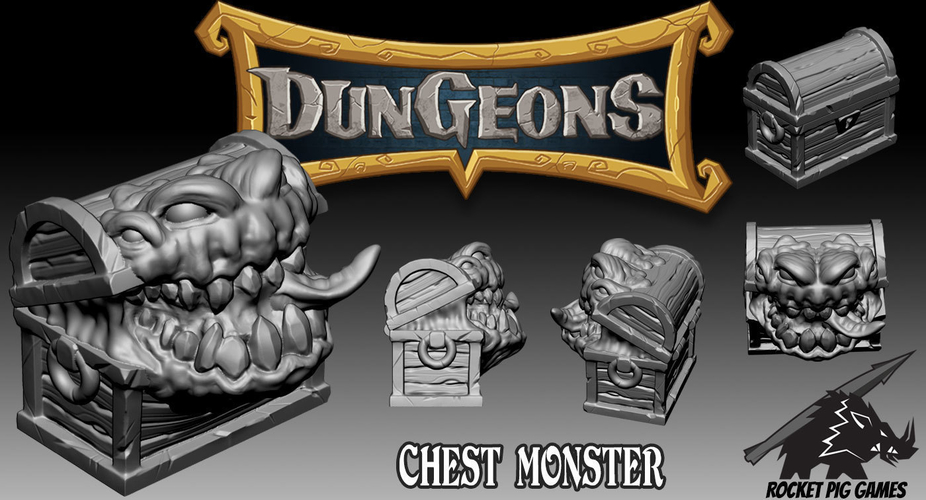 Rocket Pig Games Chest Monster 3D Print 195005
