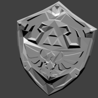 Small Shield of Hyrule  3D Printing 195020
