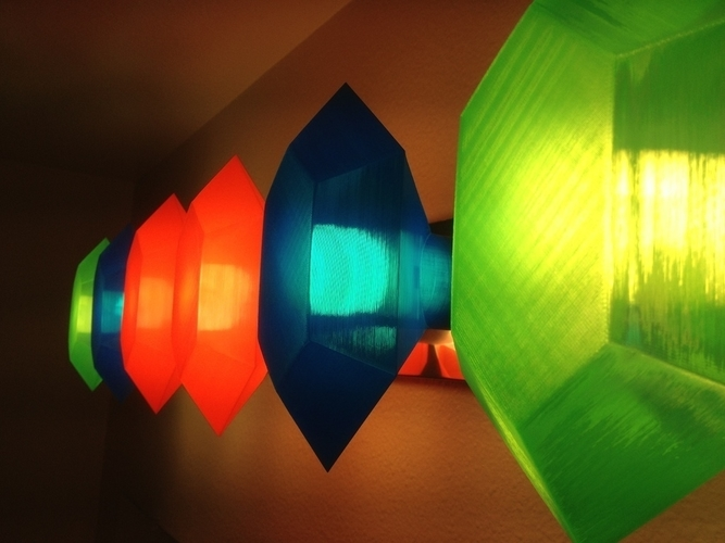 Customizable Rupee Lamp Shade 3D Print 195098