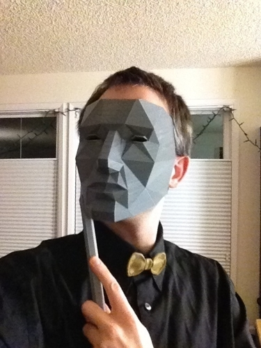 Low Polygon Mask - Replicator Printable 3D Print 195117