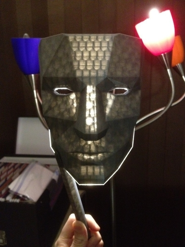 Low Polygon Mask - Replicator Printable 3D Print 195118