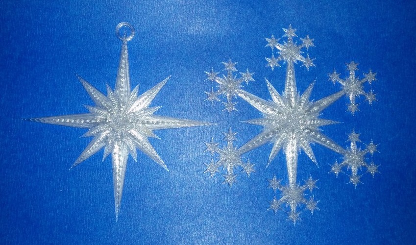 Star and Snowflake Star Ornament 3D Print 19512