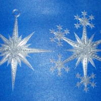Small Star and Snowflake Star Ornament 3D Printing 19512