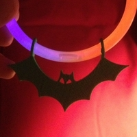 Small Bat Charm for Glowstick Bracelets 3D Printing 195120