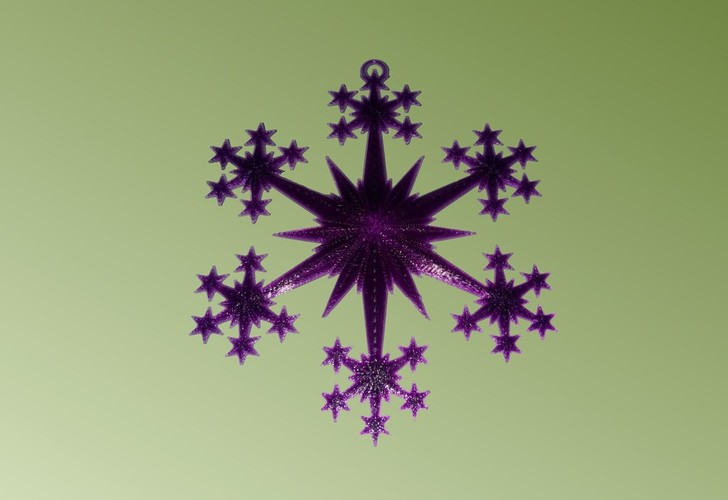 Star and Snowflake Star Ornament 3D Print 19513