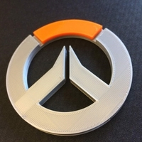 Small Overwatch Logo (Multi Coloured) 3D Printing 195171