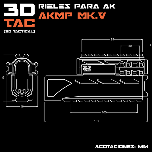 3DTAC / AK Complete Modular Package (Airsoft only) 3D Print 195198